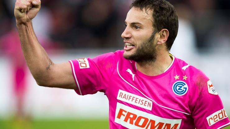 Drei seiner fünf Saisontreffer hat GCs Shkelzen Gashi gegen seinen früheren Arbeitgeber Aarau erzielt. KEY