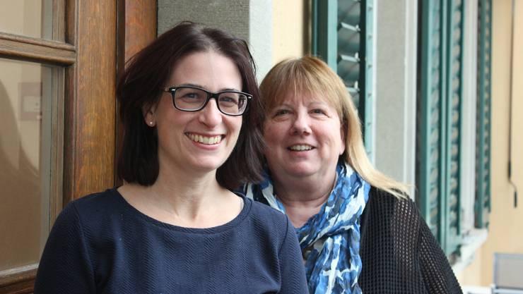 Martina Flückiger (l.) und Doris Ammann sind im Team des Vereins Elternbildung Region Aarau.