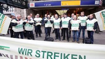 Streikende Lokführer der Deutschen Bahn diese Woche in Hamburg