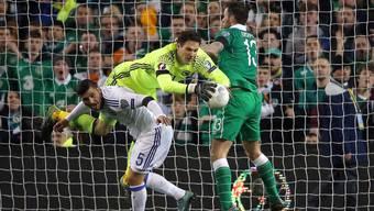 Irland mit Daryl Murphy (ganz rechts) löste das Ticket für die EM 2016 in Frankreich