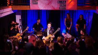 Der Auftritt von Luca Hänni im Rahmen von «Kultur sieht pink» war der Höhepunkt der letzten Ausgabe der Veranstaltung.
