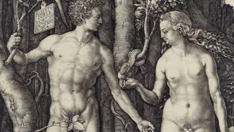 """Teil der Druckgraphik """"Adam und Eva"""" von Albrecht Dürer"""