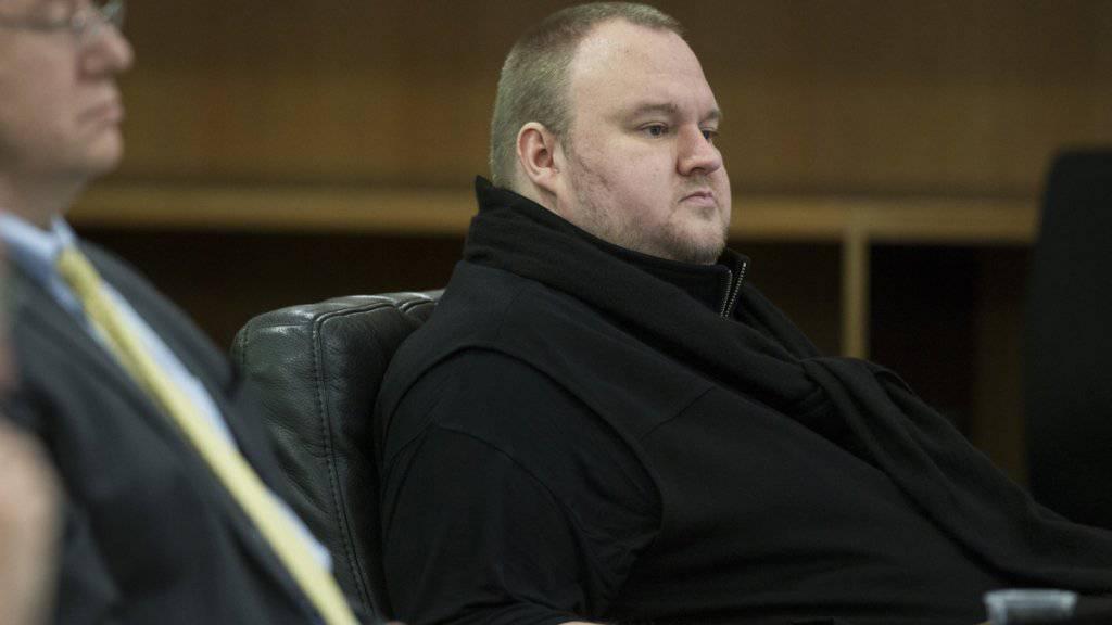 Kim Dotcom während einer Anhörung im vergangenen September: Das Gericht in Neuseeland wertet die Beweislage gegen ihn für so erdrückend, dass es die Auslieferung an die USA genehmigt hat. Dotcom kann das Urteil noch anfechten.