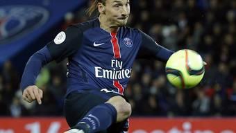 Superstar Zlatan Ibrahimovic schiesst beim 4:0-Sieg von Paris St-Germain gegen Stade Rennes seine Saisontore Nummer 33 und 34