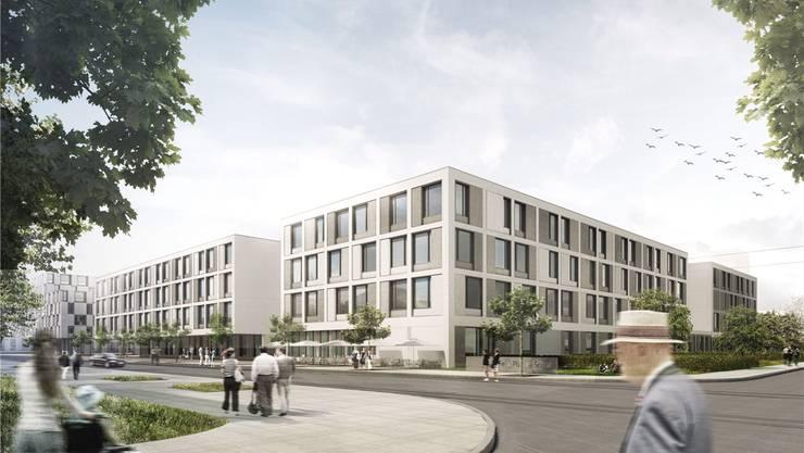 2018 wird das zukünftige Felix-Platter-Spital bezogen. Die Illustration zeigt, wie es einst aussehen soll.