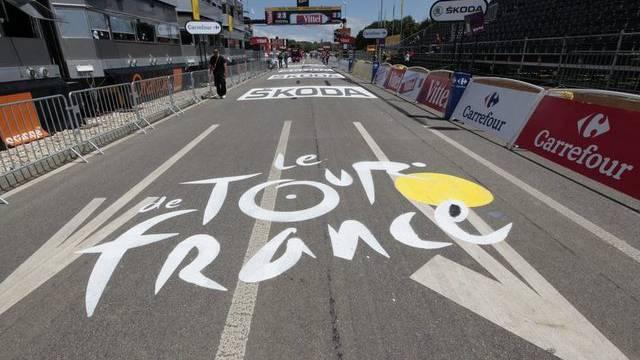 Das Ziel der Tour de France in Pruntrut