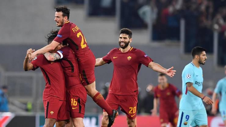 Überschwänglicher Jubel: Roma haut Barça raus