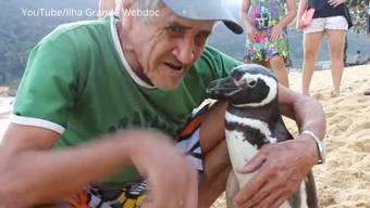 «Ich würde gern mit ihm gehen, wenn ich könnte – und das Land der Pinguine besuchen»: João Pereira de Souza und sein Dindim.