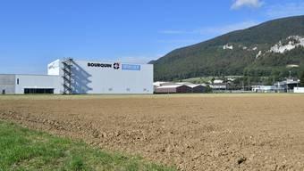 Auf diesem noch freiem Gelände soll das künftige Schwerverkehrskontrollzentrum SVKZ Oensingen entstehen.