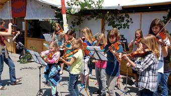 Die Musikschülerinnen und -schüler bewiesen dem Publikum am Donnerstag ihr Können.