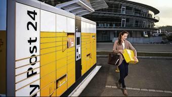 Ein solcher 24-Stunden-Automat für Pakete soll in Frick entstehen.