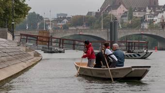 Erster Kinderweidling auf dem Rhein