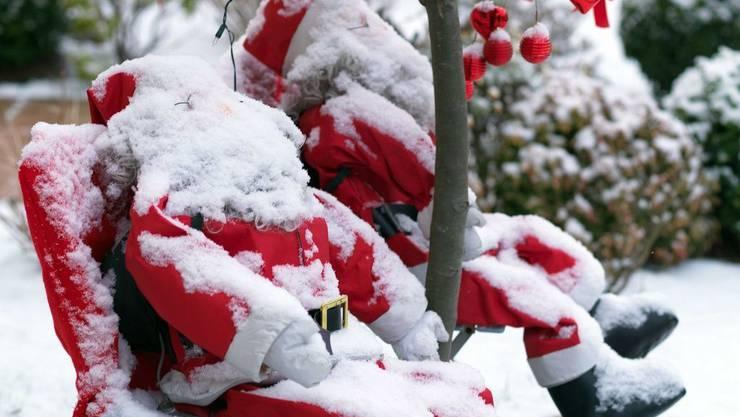 Wird der Weihnachtsmann eingeschneit?