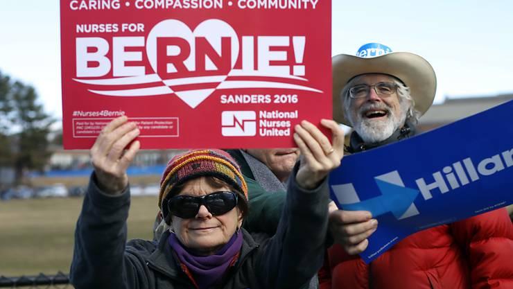 Hauptsache Demokraten: Im US-Bundesstaat Maine gewann allerdings Bernie Sanders die Vorwahl gegen Hillary Clinton.