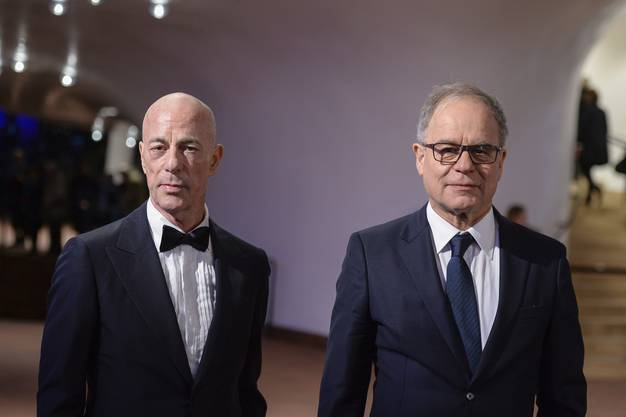 Die Schweizer Architekten Jaques Herzog und Pierre de Meuron.