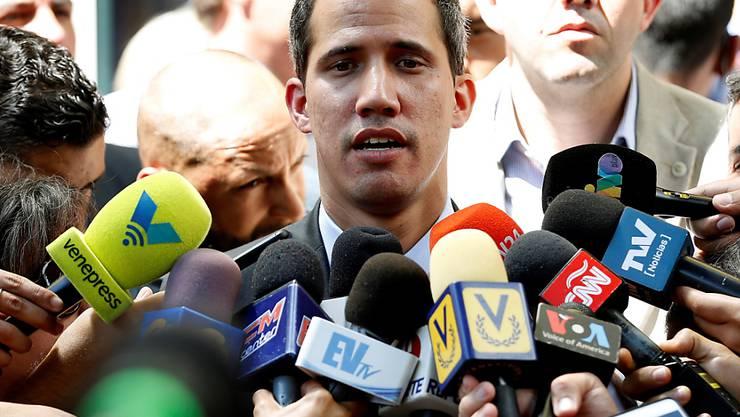 Venezuelas selbsternannter Gegenpräsident Juan Guaidó ist derzeit eine gefragte Persönlichkeit.