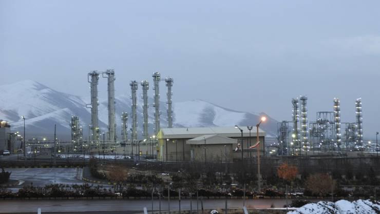 Der Schwerwasserreaktor im iranischen Arak. Laut dem Atom-Abkommen musste er umgebaut werden, und angereichertes Uran musste der Iran abgeben. (Archiv)