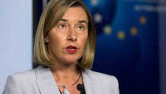 EU-Aussenbeauftragte Federica Mogherini hat nach einem Krisentreffen mit dem iranischen Aussenminister Mohammed Dschawad Sarif die USA aufgefordert, an dem internationalen Atomabkommen mit Iran festzuhalten.