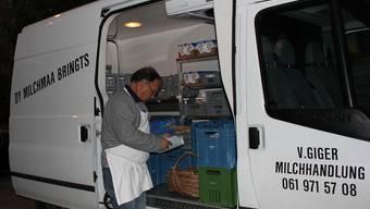 Für «Milchmaa» Victor Giger beginnt der Arbeitstag schon um zwei Uhr morgens.