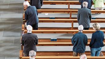 Im Aargau dürfen 50 Personen zum Gottesdienst, in Solothurn nur 30.