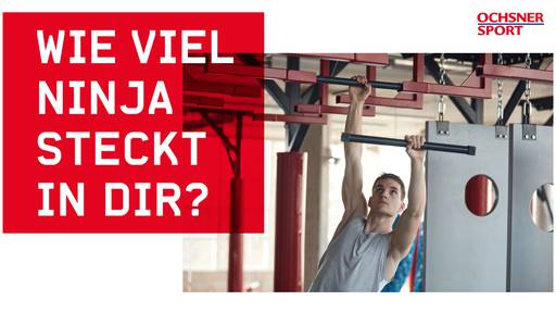 «The Ninja Challenge»: Sichere dir mit OCHSNER SPORT eine Wildcard für «Ninja Warrior Switzerland»!