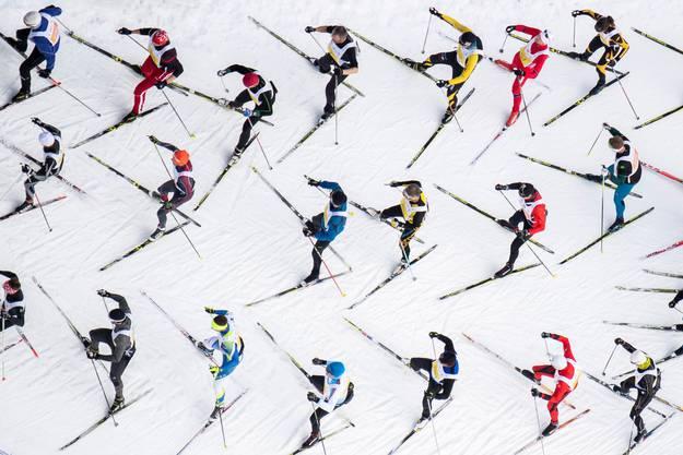 Der Engadiner Skimarathon lockt Starter aus über 60 Ländern an.