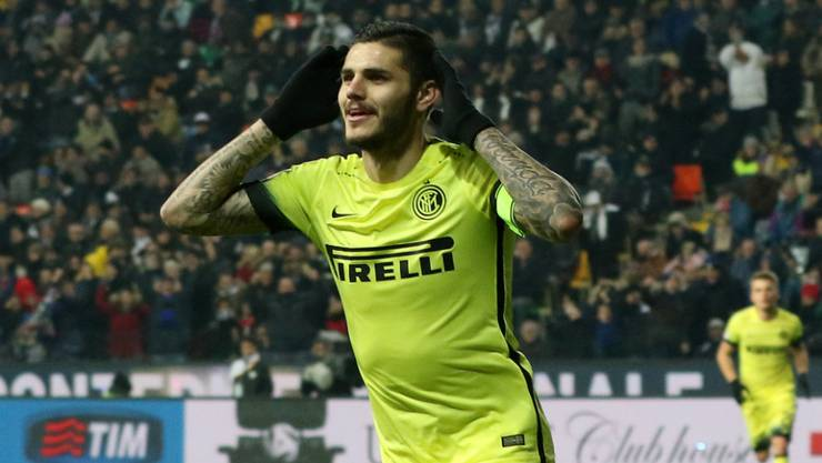 Mauro Icardi will nach seinen zwei Toren die Fans jubeln hören