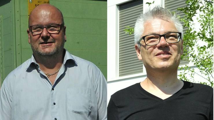 Gemeinderatskandidaten: Beat Woodtli (links) und Oliver Krähenbühl
