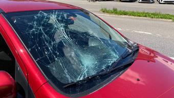 Unfall in Lenzburg am 13. Juli 2020