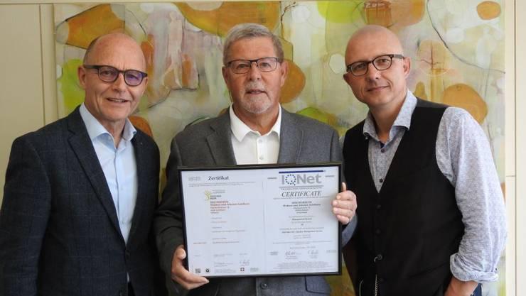 v.l.n.r. Dr. Kurt Altermatt, Peter Mollet, Stephan Oberli