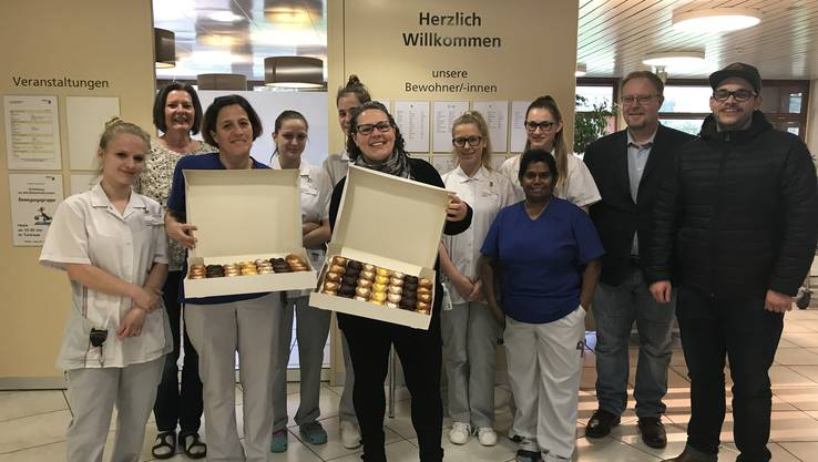 Im Altersheim Herosé in Aarau: Danke für die tolle Arbeit, die ihr leistet, um älteren Menschen ein liebevolles Zuhause zu schenken.