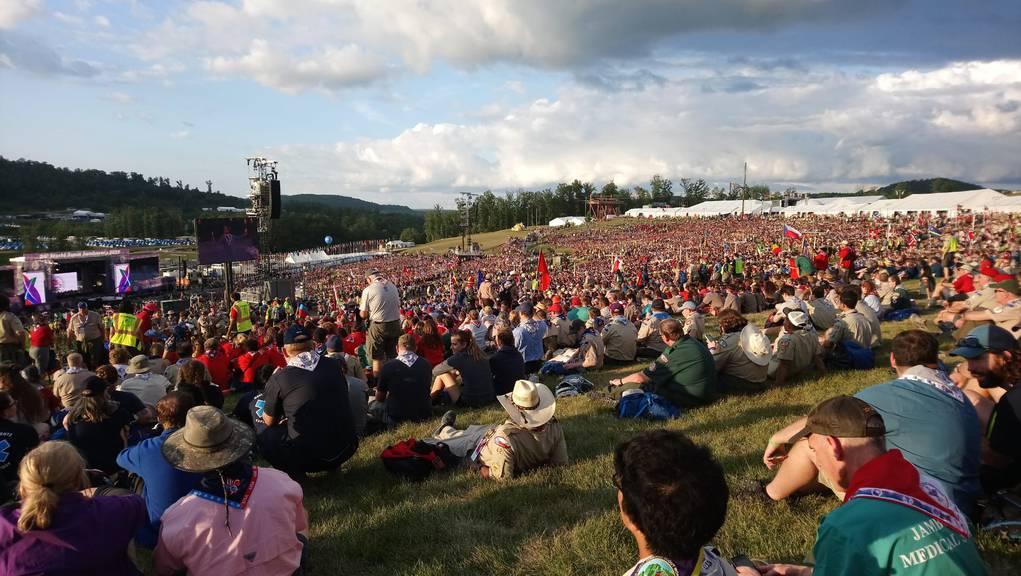 Am Jamboree sind 45'000 Pfadfinder aus 132 Ländern. (zVg)