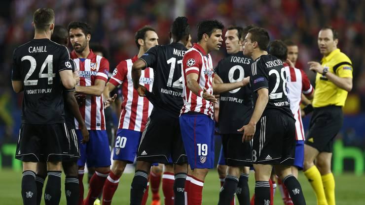Das Champiions League Halbfinal-Hinspiel Atletico Madrid gegen Chelsea endet torlos.