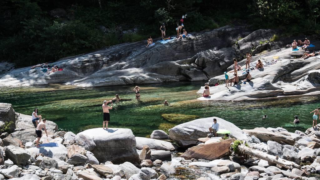 Im Tessin kommt eine Hitzewelle auf die Bewohner und Touristen zu. Auch im beliebten Verzascatal.