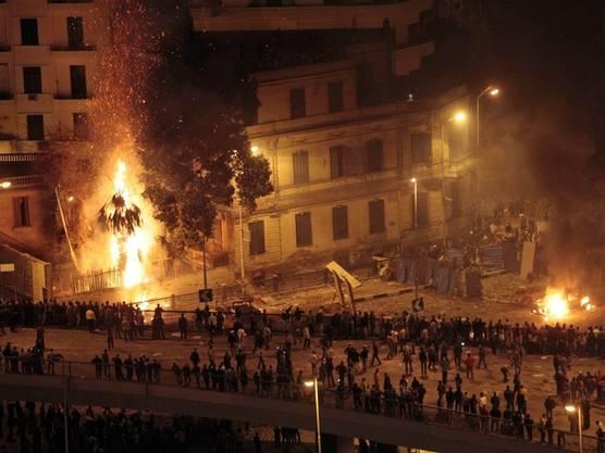 Auf dem Tahrir-Platz in Kairo kam es in der Nacht zu weiteren tödlichen Auseinandersetzungen