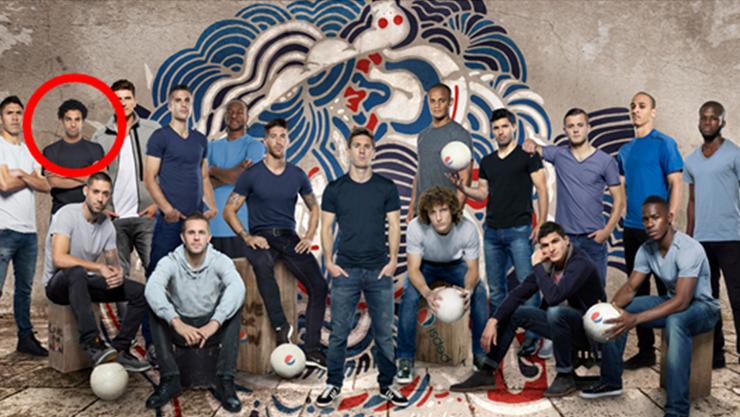 Im Kreise der ganz Grossen. Mohamed Salah gehört zum Pepsi-Team 2014.