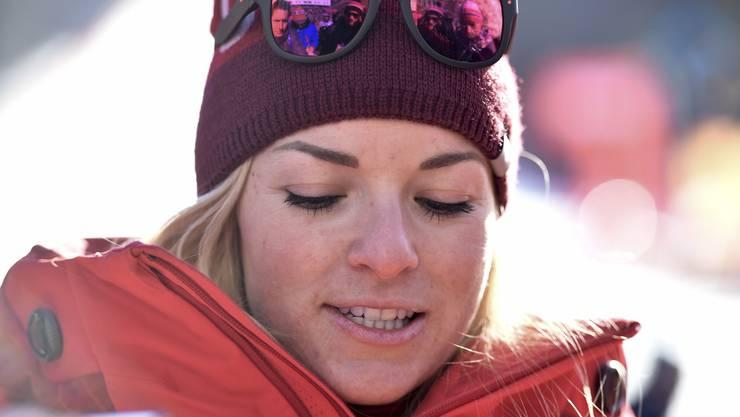 Enttäuscht: Lara Gut nach der olympischen Abfahrt.