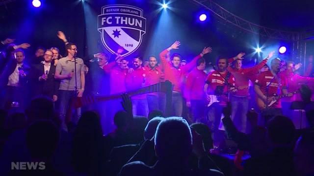 FC Thun Spieler machen auch auf der Bühne eine gute Figur