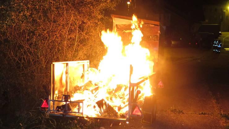 Nicht nur der Anhänger wurde beschädigt, auch das Zugfahrzeug wurde in Mitleidenschaft gezogen.