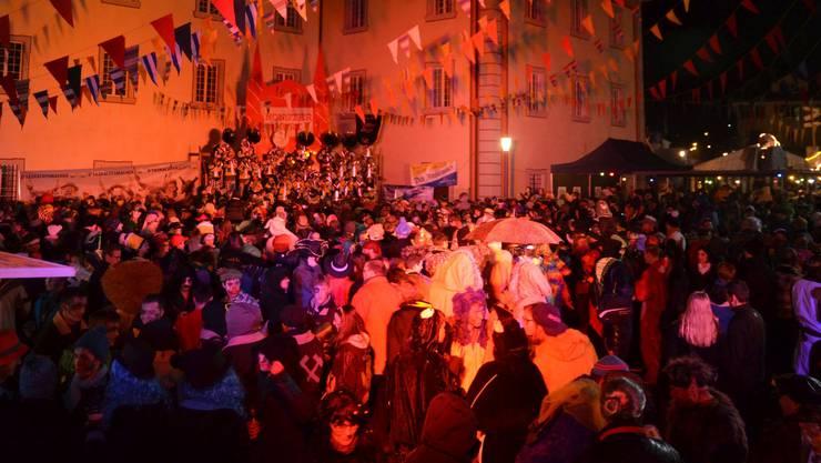 Am traditionellen Monster-Guggentreffen in Muri nehmen jeweils Cliquen aus der halben Schweiz teil.