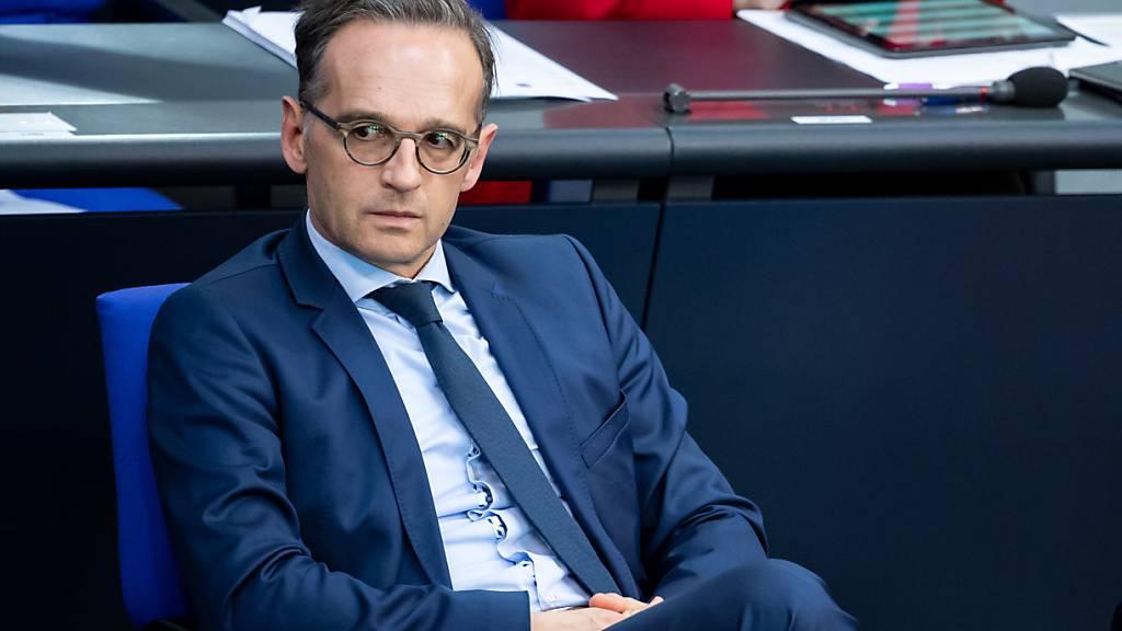 Bundesaußenminister Heiko Maas (SPD) während einer Plenarsitzung im Deutschen Bundestag.