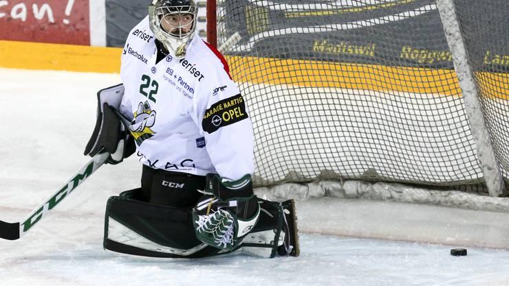 EHCO-Goalie Simon Rytz wurde in der 77. Minute entscheidend bezwungen.