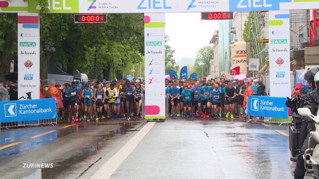 Schlechte Bedingungen am 17. Zürich Marathon