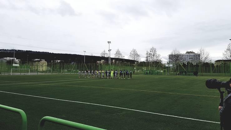 Testspiel FC Zürich FC Aarau - zweite Halbzeit im  Schneetreiben