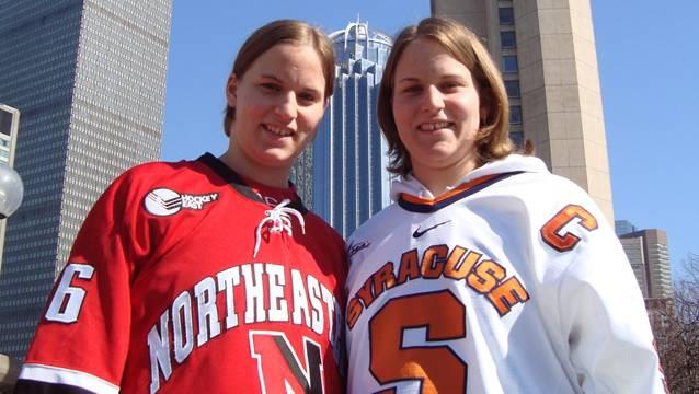 Werden in diesem Jahr nicht im selben Team spiele: Die Schwestern Julia (links) und Stefanie Marty.