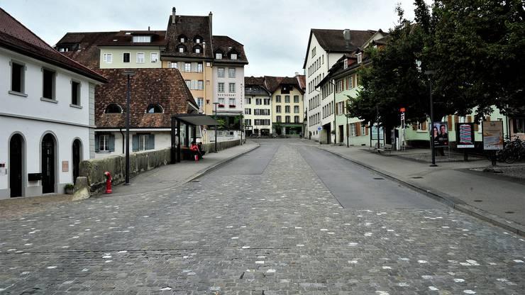 Der Aarauer Zollrain: Hier marschierten die neun Wildschweine am vergangenen Dienstag, 5. September, kurz vor 2 Uhr, in die Altstadt.