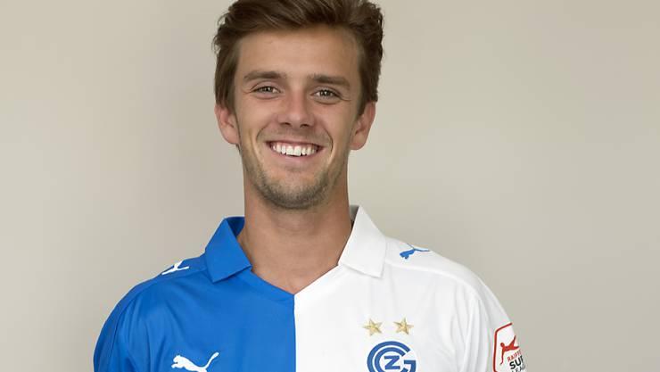 Lucas Andersen, Daenischer Nationalspieler, ist neuer Spieler beim Grasshopper Club Zuerich in Zuerich am Dienstag, 5. Juli 2016. (KEYSTONE/Walter Bieri)
