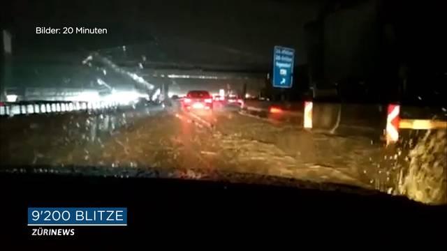 Unwetter in Zürich: 9200 Blitze und gefluteter Gubristtunnel