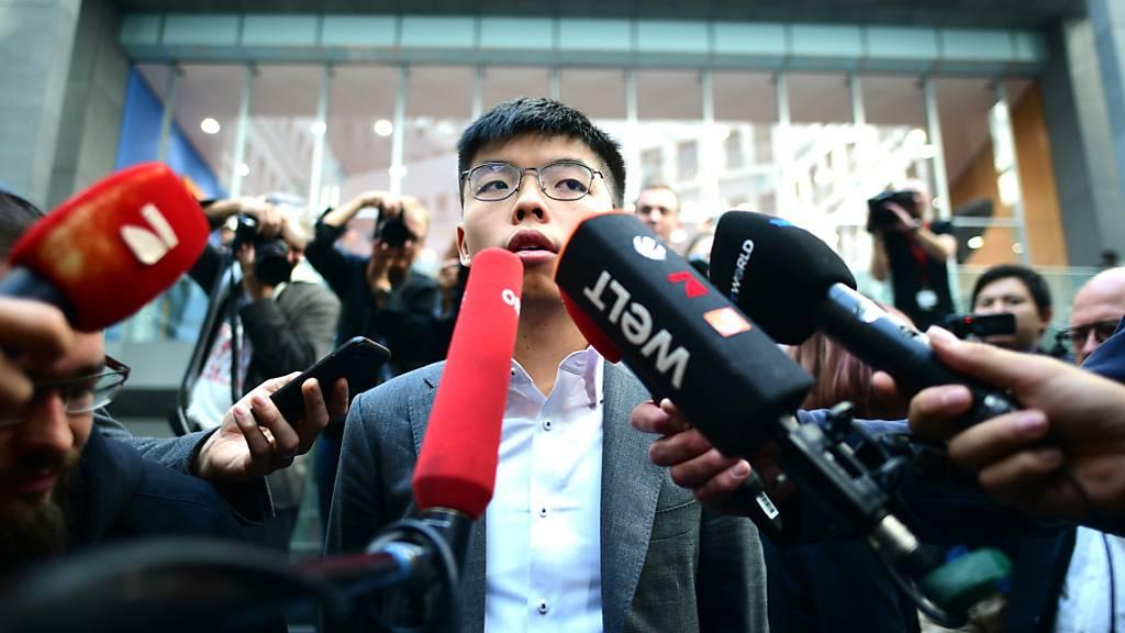 Hongkong-Aktivist Wong fordert in Berlin Unterstützung