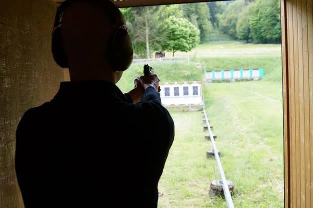 Sicht aus dem Schützenstand